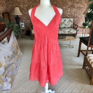Cynthia Steffe Coral V-Neck Halter Dress 12